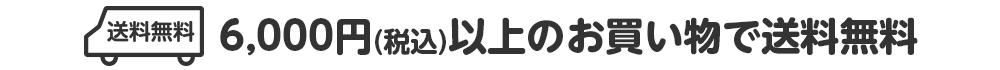6,000円(税込)以上で送料無料